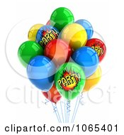 Clipart 3d Helium Party Balloons Royalty Free CGI Illustration