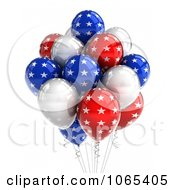 Clipart 3d Fourth Of July Helium Party Balloons 7 Royalty Free CGI Illustration by stockillustrations