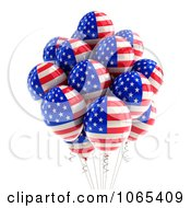 Clipart 3d Fourth Of July Helium Party Balloons 2 Royalty Free CGI Illustration