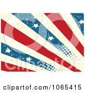 Clipart Grungy American Stripes And Stars Background Royalty Free Vector Illustration
