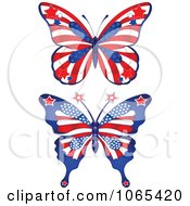 Clipart American Butterflies Royalty Free Vector Illustration