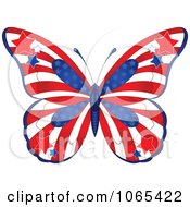 Clipart American Butterfly Royalty Free Vector Illustration