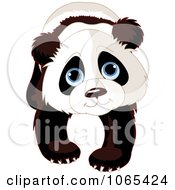 Clipart Cute Panda Walking Forward Royalty Free Vector Illustration