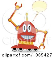 Clipart Talking Wheeled Robot Royalty Free Vector Illustration by mheld