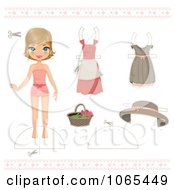 Clipart Paper Doll Girl And Clothing 1 Royalty Free Vector Illustration