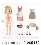 Clipart Paper Doll Girl And Clothing 2 Royalty Free Vector Illustration