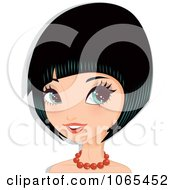 Clipart Woman With Black Hair In A Bob Cut 4 Royalty Free Vector Illustration by Melisende Vector