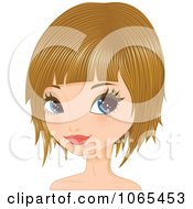 Clipart Woman With Dirty Blond Hair In A Bob Cut 2 Royalty Free Vector Illustration by Melisende Vector