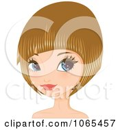 Clipart Woman With Dirty Blond Hair In A Bob Cut 1 Royalty Free Vector Illustration by Melisende Vector