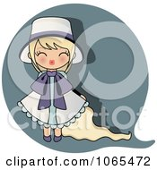 Clipart Blond Girl Puckering Her Lips Royalty Free Vector Illustration