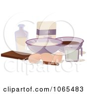 Clipart Baking Ingredients Royalty Free Vector Illustration