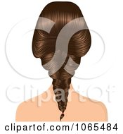 Clipart Woman With A French Braid Royalty Free Vector Illustration