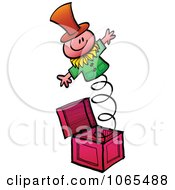 Clipart Jack In The Box Toy Royalty Free Vector Illustration