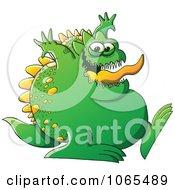 Fat Green Monster Walking