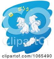 Clipart Polar Bears Playing Musical Ice Chairs 1 Royalty Free Vector Illustration by Zooco