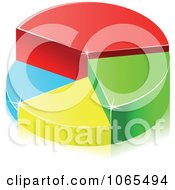 Clipart Colorful 3d Pie Chart 2 Royalty Free Vector Illustration by Vector Tradition SM