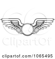 Clipart Black And White Wings 13 Royalty Free Vector Illustration