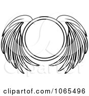 Clipart Black And White Wings 19 Royalty Free Vector Illustration