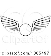 Clipart Black And White Wings 12 Royalty Free Vector Illustration