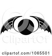 Clipart Black And White Wings 20 Royalty Free Vector Illustration by Vector Tradition SM