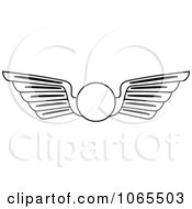 Clipart Black And White Wings 14 Royalty Free Vector Illustration by Vector Tradition SM