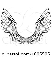 Clipart Black And White Wings 17 Royalty Free Vector Illustration by Vector Tradition SM
