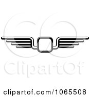 Clipart Black And White Wings 10 Royalty Free Vector Illustration by Vector Tradition SM