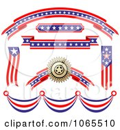 Clipart Patriotic American Elements 5 Royalty Free Vector Illustration