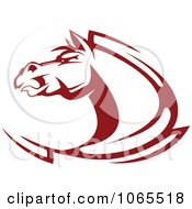 Clipart Strong Red Horse Head 4 Royalty Free Vector Illustration