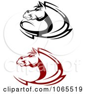 Clipart Horses Collage 8 Royalty Free Vector Illustration