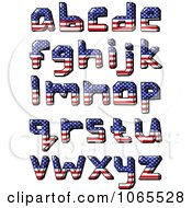 Clipart Lowercase American Flag Letters Royalty Free Vector Illustration