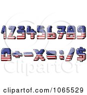 American Flag Numbers And Math Symbols