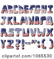 Clipart Capital American Flag Letters Royalty Free Vector Illustration by yayayoyo