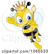 Queen Bee Wearing A Crown