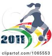 Clipart 2011 Female Soccer Player Royalty Free Vector Illustration