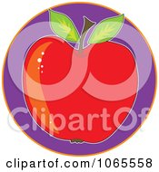 Red Apple On Purple Logo