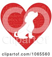Word Heart And Puppy Silhouette
