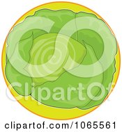 Clipart Cabbage On Green Logo Royalty Free Vector Illustration by Maria Bell