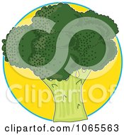 Clipart Broccoli On Yellow Logo Royalty Free Vector Illustration by Maria Bell