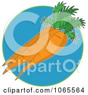 Clipart Carrots On Blue Logo Royalty Free Vector Illustration by Maria Bell