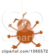 Clipart Happy Spider On Silk Royalty Free Vector Illustration by Alex Bannykh