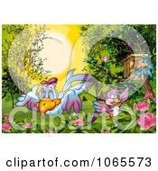 Clipart Birds In A Garden Royalty Free Illustration by dero