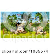 Clipart Artist Animals With Pencils And Crayons Royalty Free Illustration by dero