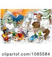 Clipart Winter Recreation Animals Royalty Free Illustration by dero