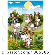 Clipart Easter Rabbit Family Royalty Free Illustration by dero