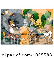 Clipart Camping Animals By A Bear Cave Royalty Free Illustration by dero