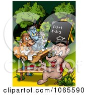 Clipart Bear Teacher Instructing Class Royalty Free Illustration by dero