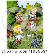 Clipart Bugs In A Class Royalty Free Illustration