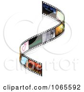 Clipart Curved Film Strip With Frames Royalty Free Vector Illustration by dero