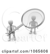Clipart 3d White Businessman Doing A Background Check On An Applicant Royalty Free CGI Illustration